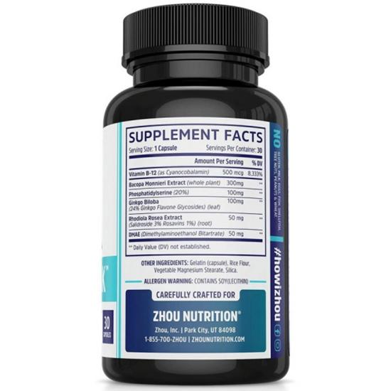 Neuro Peak Brain Support Supplement - Memory, Focus & Clarity Formula - Nootropic Scientifically Formulated for Optimal Performance