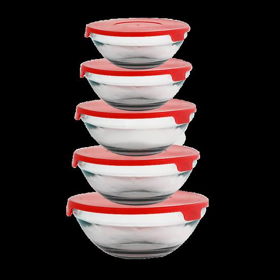 2 In1 Bundle Offer 9 Litre Pressure Cooker+5 Pcs Bowl Set BND17-35