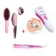 (3 In 1 Beauty Bundle) Hair Straightener Brush + Hair Curling Iron + Callus Remover