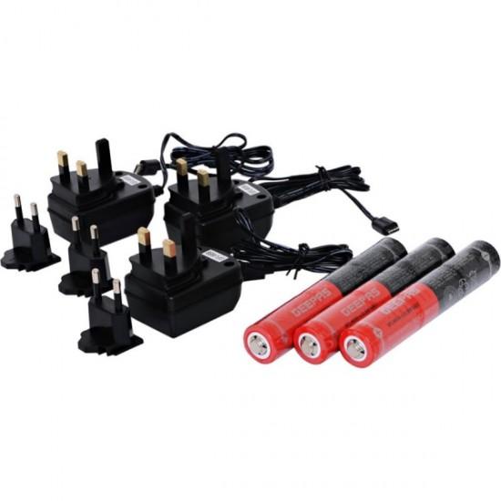 Geepas 31N1 Pack Rechargeable Led Flashlight Nightglow 280Mm - GFL4658