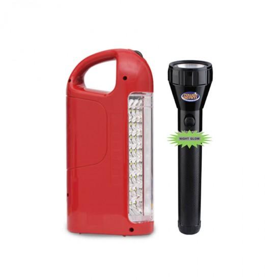 Geepas Combo Flash Light 211MM & Emergency 24Led - GEFL4629