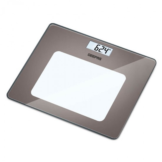 Geepas Digital Personal Scale, 6MM Tempd Glass - GBS4218