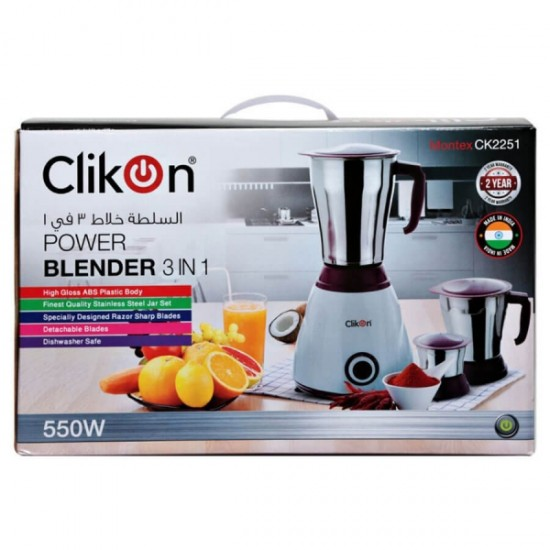 Clikon 3 In 1 Blender - Ck2251