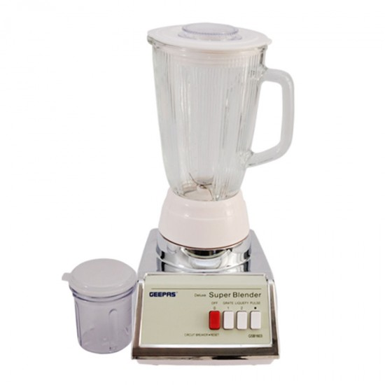 Geepas 2 In 1 Elecric Blender With Glass Jar - GSB1603