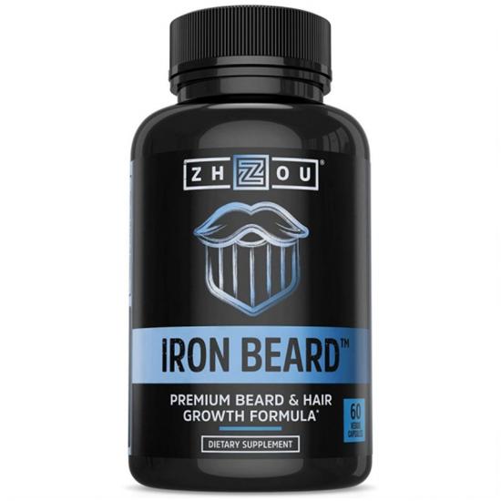Iron Beard Growth Vitamin Supplement for Men - Fuller, Thicker, Manlier Hair Growth