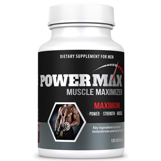 Powermax Testosterone Booster- 120 Capsules - Boost Testosterone Naturally