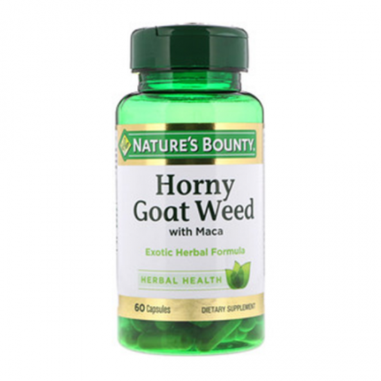 Nature s Bounty, Horny Goat Weed with Maca, 60 Capsules