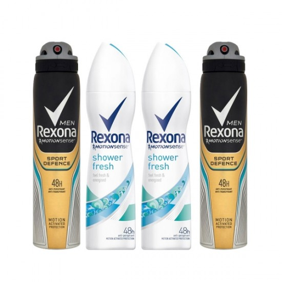 Rexona 200ml x 4-in-1 Bundle Pack for Men and Women - BND18825