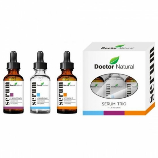 Doctor Natural Anti Aging Set, Vitamin C, Retinol Serum And Hyaluronic Acid For Anti Wrinkle and Dark Circle Remover