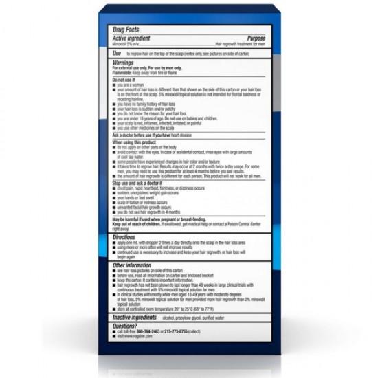 Men s ROGAINE®5 Minoxidil Solution 1 Month Supply