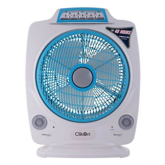 Clikon 12 Inches Rechargeable Fan - CK2195