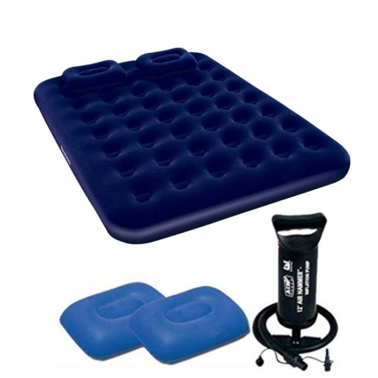 Bestway Air lock with Air Pump Inflatable Air Queen s Mattress 67374