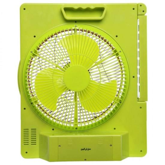 Clikon 12 Rechargeable Fan With Emergency Lantern - Ck2801
