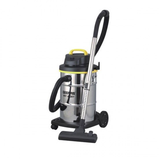 Geepas Wet & Dry Stainless Steel Vaccum Cleaner 23L 2400w - GVC19011
