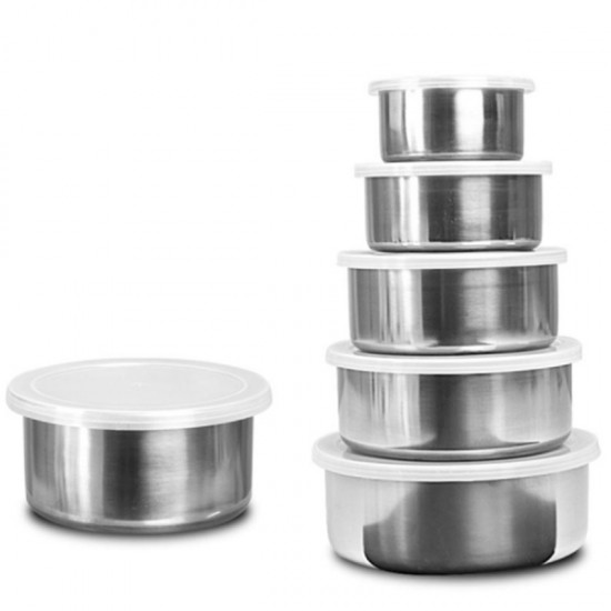 10 Casserole Cookware Set + 5 Pcs Stainless Steel Protect Fresh Box BND18-15