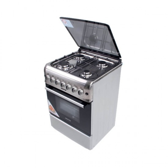 Geepas 4Burn Gas Cooking Range, Grill, Rot - GCR6058