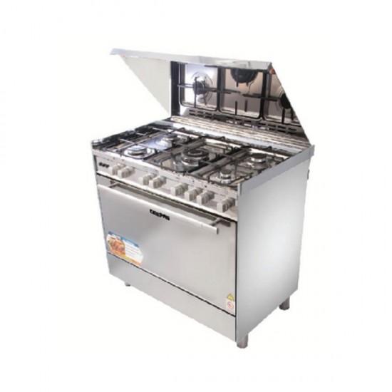 Geepas SS 5Gas Cooking Range, Full Safety - GCR9061FPSRC