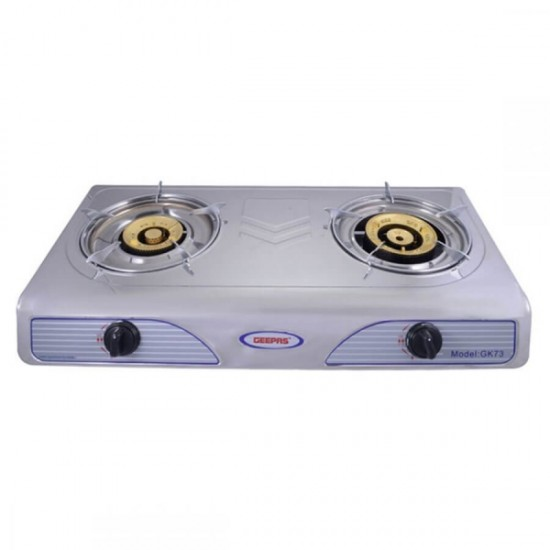 Geepas Double Gas Burner Auto Ignition System - GK73