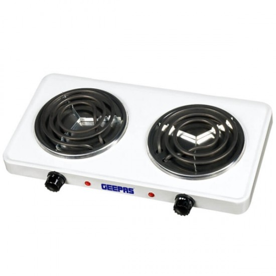 Geepas Electric Double Hot Plate Chromedrip Pans - GHP7576
