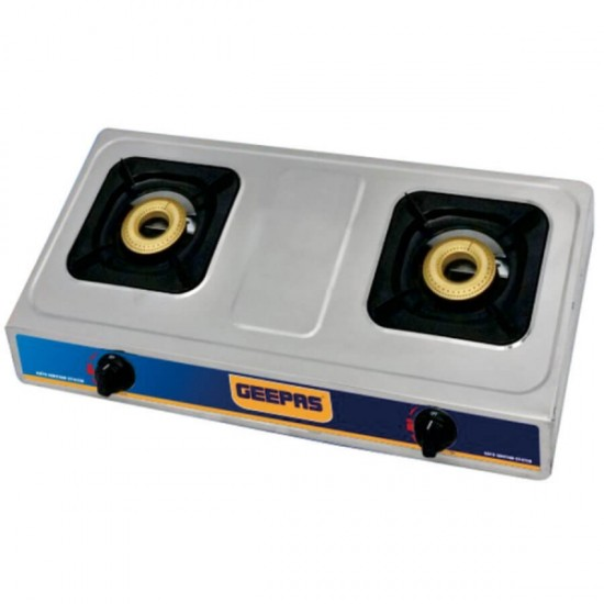 Geepas Stainless Steel Double Gas Burner Special For Ind - GK6856