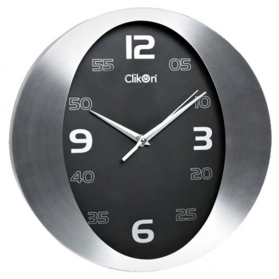 Clikon CK1117 Aluminum Frame Wall Clock