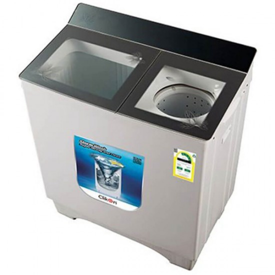 Clikon Twin Tub Washing Machine - 9.5 Kg, White, CK606