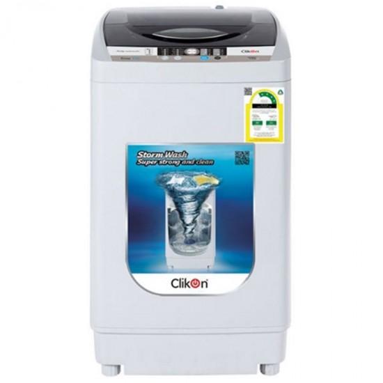 Clikon Washing Machine - Automatic, 5 Kg, White, CK 604