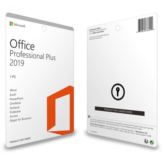 Microsoft Office 2019 Professional Plus Key for 1 PC