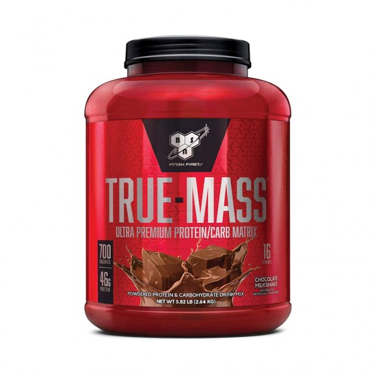 BSN TRUE-MASS Weight Gainer, Muscle Mass Gainer Protein Powder, Chocolate Milkshake