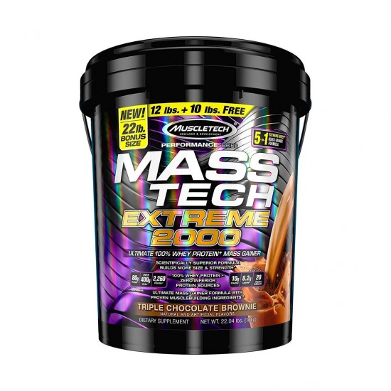 MuscleTech Mass Tech Extreme Triple Chocolate Brownie Weight Gainer