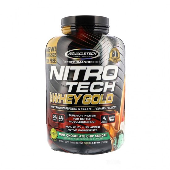 Muscletech Nitro Tech 100 Whey Gold Chocolate Banana Split