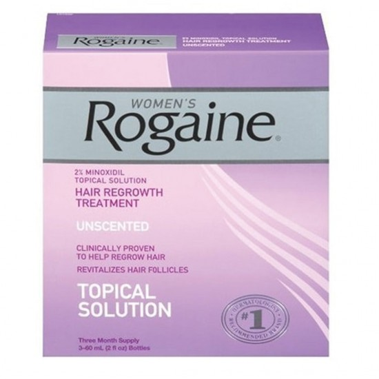 Rogaine for Women Hair Regrowth Treatment 3- 2 ounce bottles