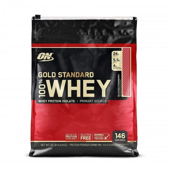 Optimum Nutrition Gold Standard 100 Whey Protein Powder, Strawberry