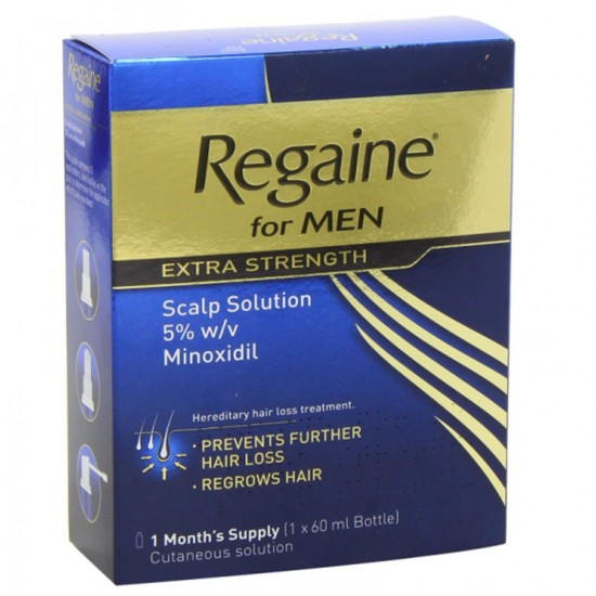Men s REGAINE 5 Minoxidil Solution For Hair Loss And Hair Regrowth, Topical Treatment For Thinning Hair 60 ml 1 Month Supply