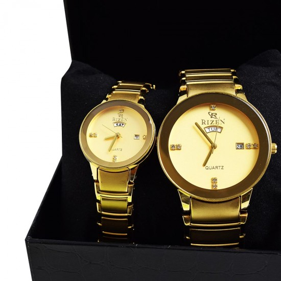 2 In 1 Bundle Offer 2 Gold Plated Watches + 4 Perfume Bottles Bnd17-206