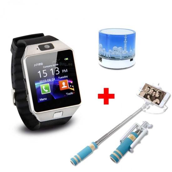 3 In 1 Bundle Offer Smart Watch+Selfie Stick+Bluetooth Small Speaker BND17-71