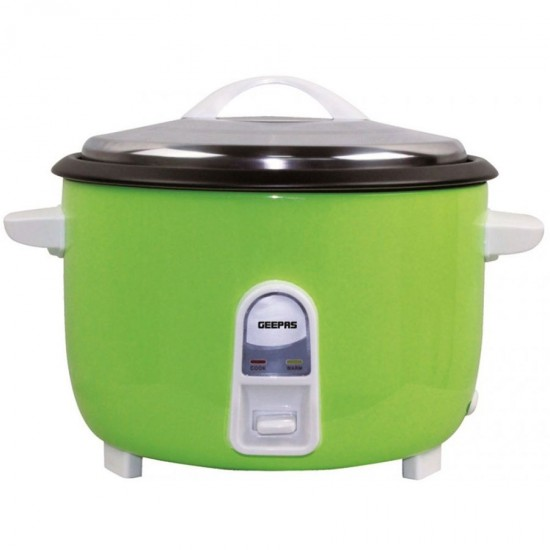Geepas Electric Rice Cooker, Cook And Warm, Stainless Lid, 4.2L - GRC4321