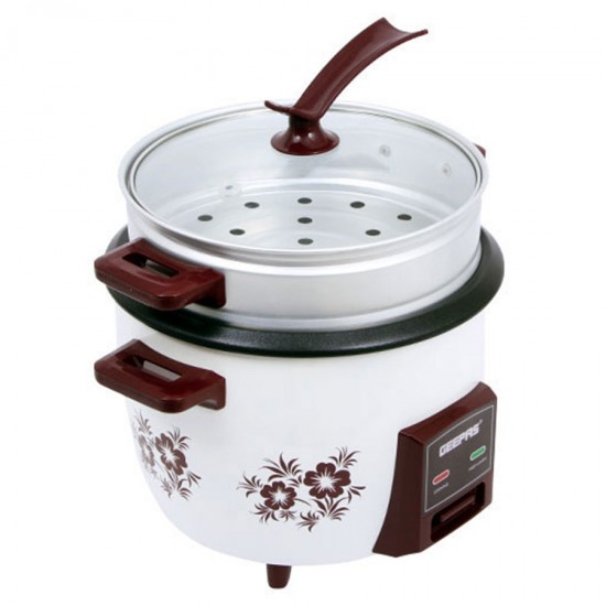 Geepas Automatic Rice Cooker, Cook, Steam, Warm, 1.5L - GRC4332