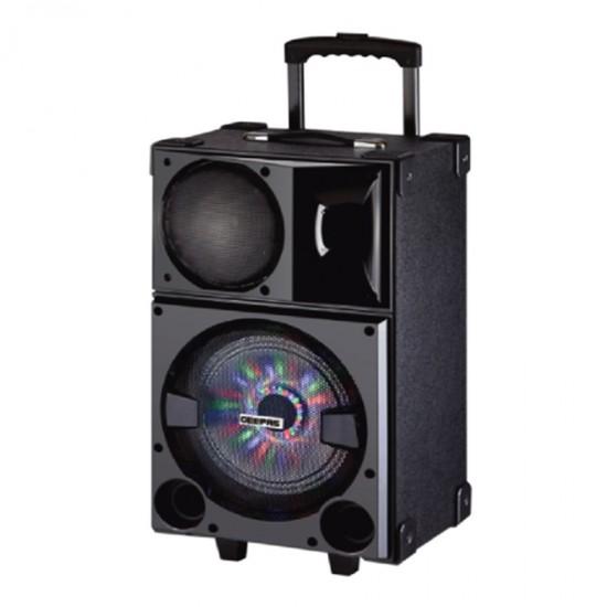 Geepas Rechargeable Trolley Speaker Usb Sd Fm Bt Rmt Mic - GMS8535