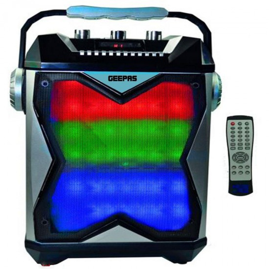 Geepas Rechargeable Speaker Usb Fm Mic Bt Rmt - GMS8546