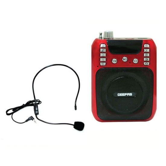 Geepas Rechargeable Mini Speaker Usb Fm Bt Headset - GMP15013