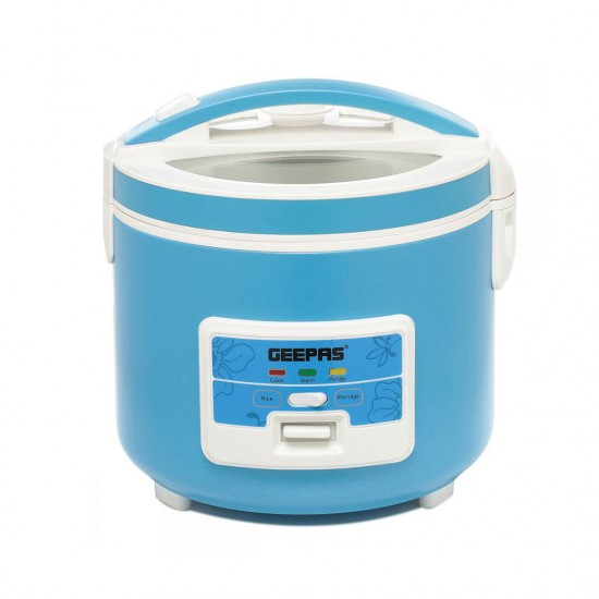 Geepas Multifunction Rice Cooker, Porridge Function, 1.8L - GRC4333