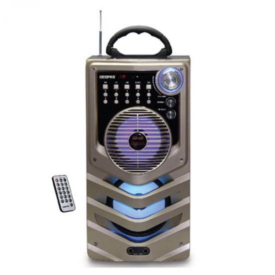 Geepas Rech Port Speaker Usb Fm Rmt Bt Mic - GMS8508