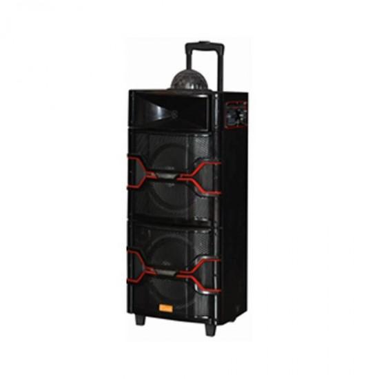 Geepas Portable Trolley Speaker Usb Mic Bt - GMS8501