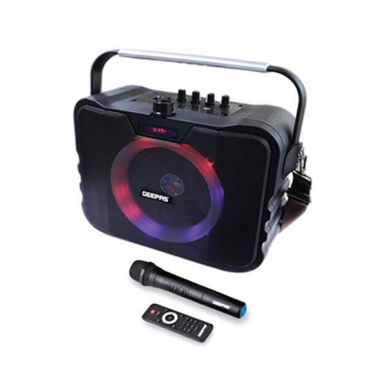 Geepas Portable And Rechargeable Speaker Usb Fm Bt Rmt Mic - GMS8547
