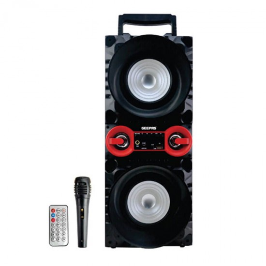 Geepas Portable And Rechargeable Speaker Usb TF Fm Bt Mic - GMS8587