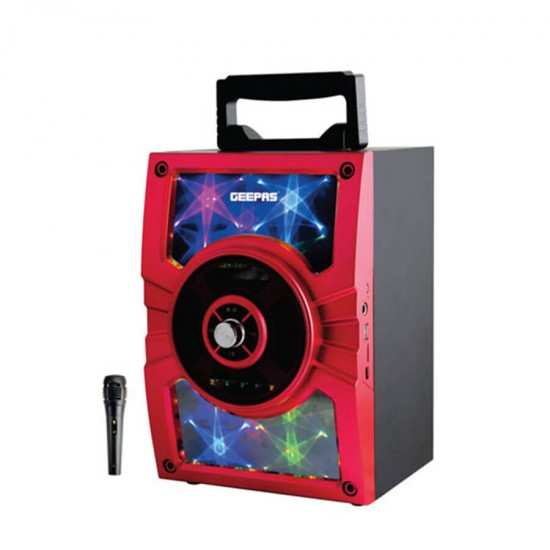 Geepas Portable And Rechargeable Speaker Usb TF Fm Bt Mic - GMS8588