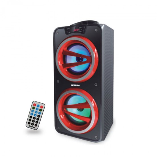 Geepas Portable And Rechargeable Speaker Usb Fm Bt Rmt - GMS8571