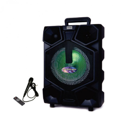 Geepas Portable And Rechargeable Speaker Usb Bt Rmt Mic - GMS8575
