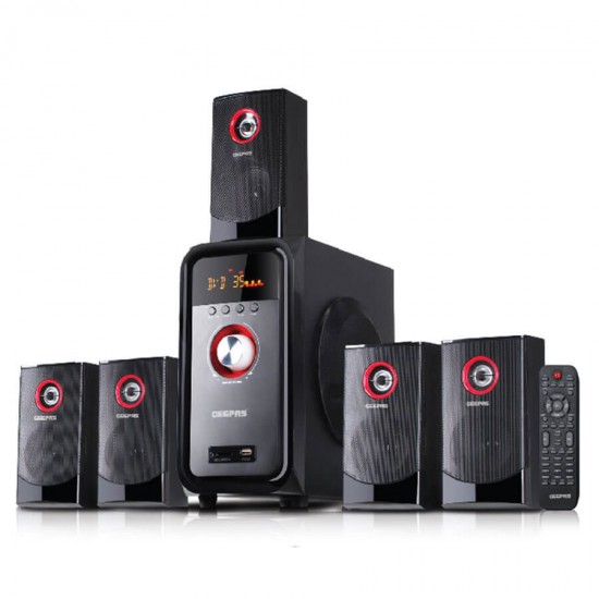 Geepas 5.1 Multimedia Speaker Usb Fm Rmt Bt - GMS8526